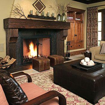 Pin By Steve Thompson Santa Barbara On Fireplace Mantels Rustic Family Room Rustic Living Room Design Rustic Living Room