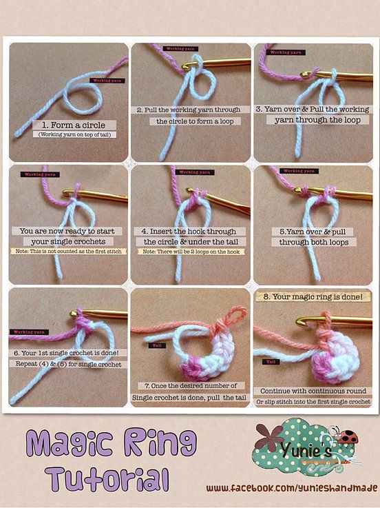 How To Make A Magic Ring Double Crochet