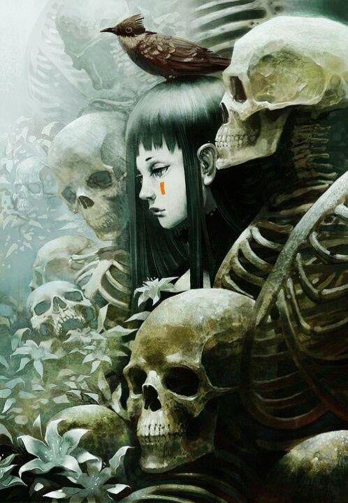 Skulls Gothic Girl | Goth Girls