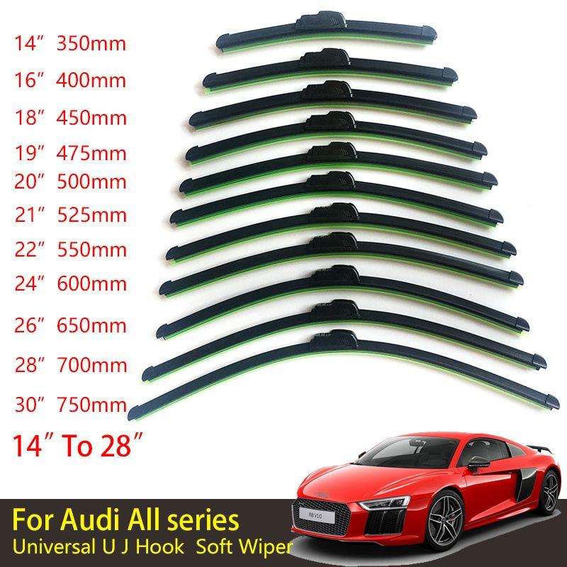 For Audi All Series Universal Car Windscreen Wiper Frameless U J - Audi all series