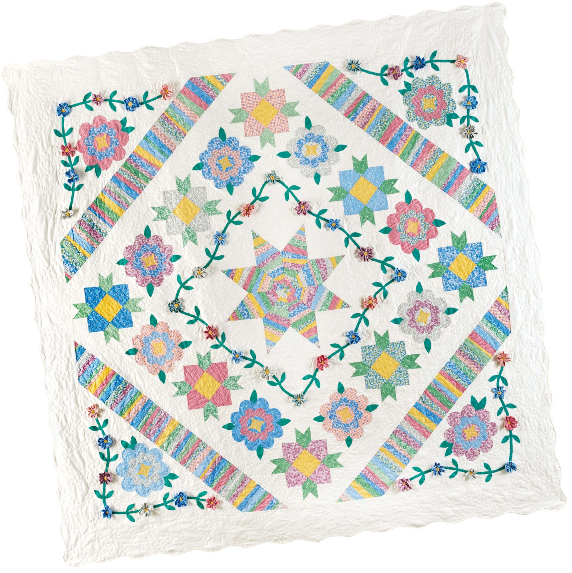 Ruby's Garden Block of the Month quilt program: String piecing ... : quilt program - Adamdwight.com