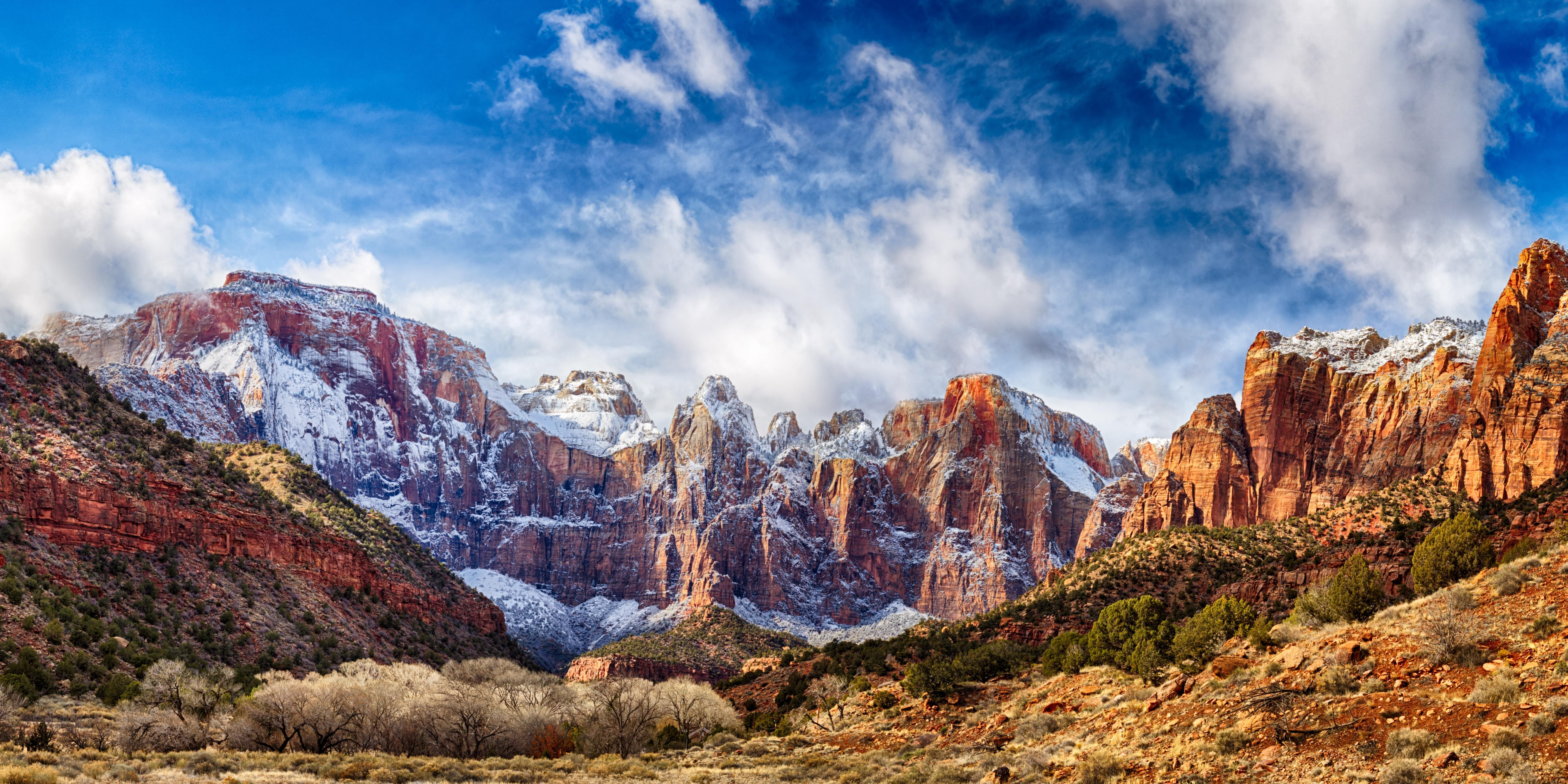 Zion National Park Hdr Panorama A Little Over 120 Photos And About 8 Hours Of Time But I Still Look At It And Cant Believe Photo Panorama Zion National Park