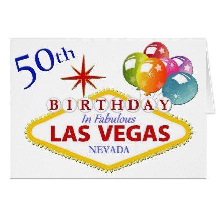 50th las vegas birthday card birthday gifts party celebration