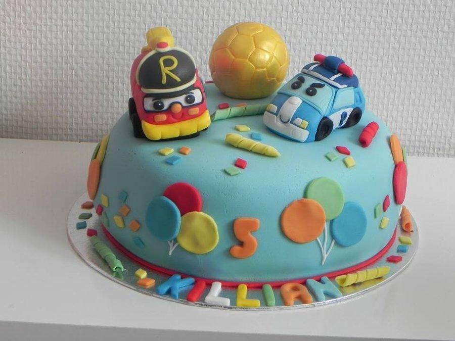 Cake policar et son ami pompier cakes for boy - Robocar poli pompier ...