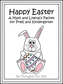 Happy Easter, Math and Literacy Packet for PreK and