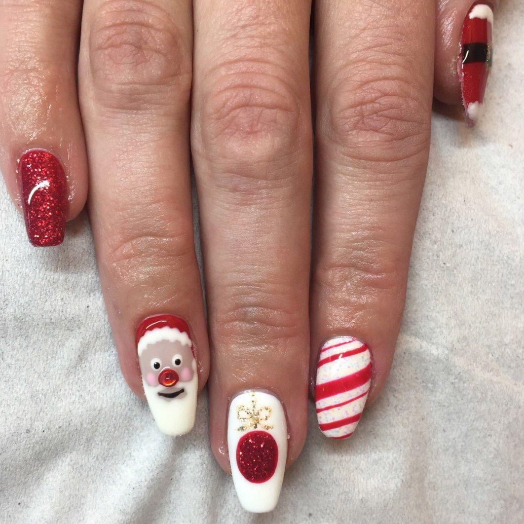 27 Holiday Nail Designs & Acrylic Nails for Winter | Winter nails ...