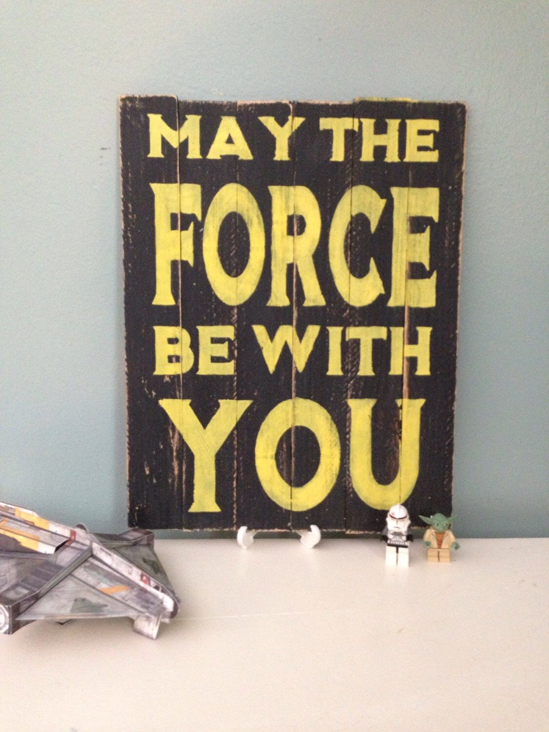 Wood Sign May the Force be with You Star Wars, Kid's