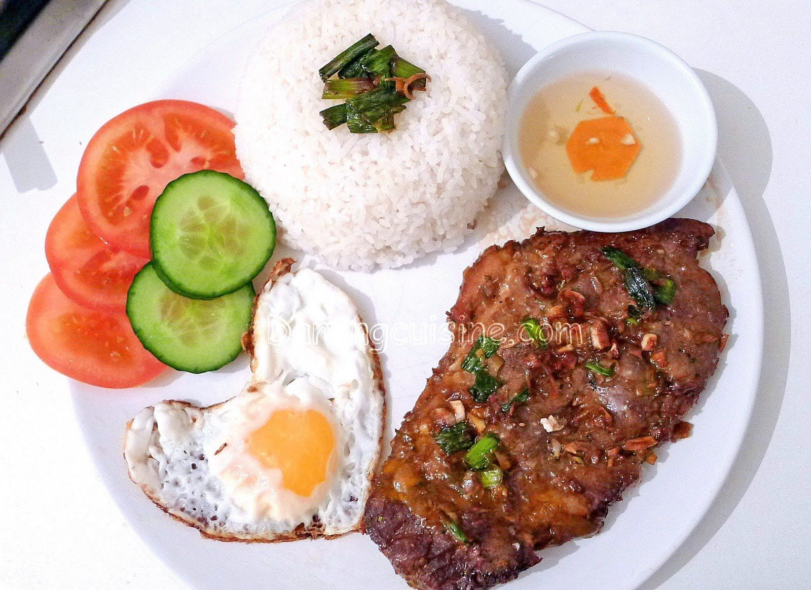 Vietnamese Grilled Pork Chop With Broken Rice Com Tam Suon Nuong