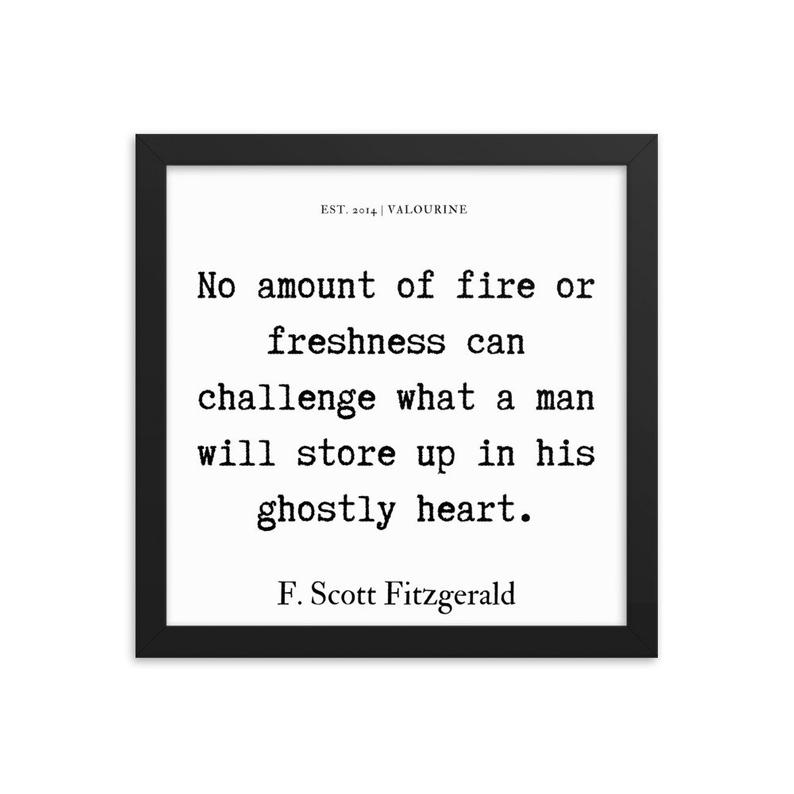 37  | Framed poster   | F.Scott Fitzgerald Quote | 191212 #philosophicalquotes
