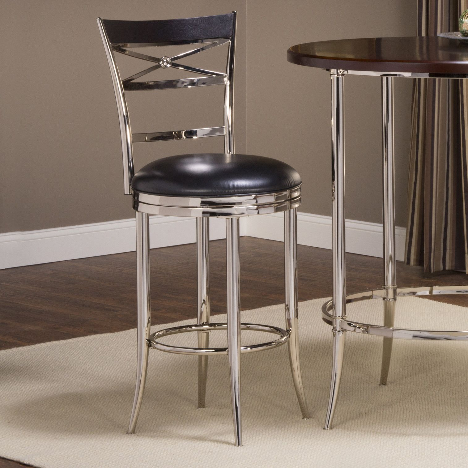 "Kilgore 26"" Swivel Bar Stool with Cushion Products"