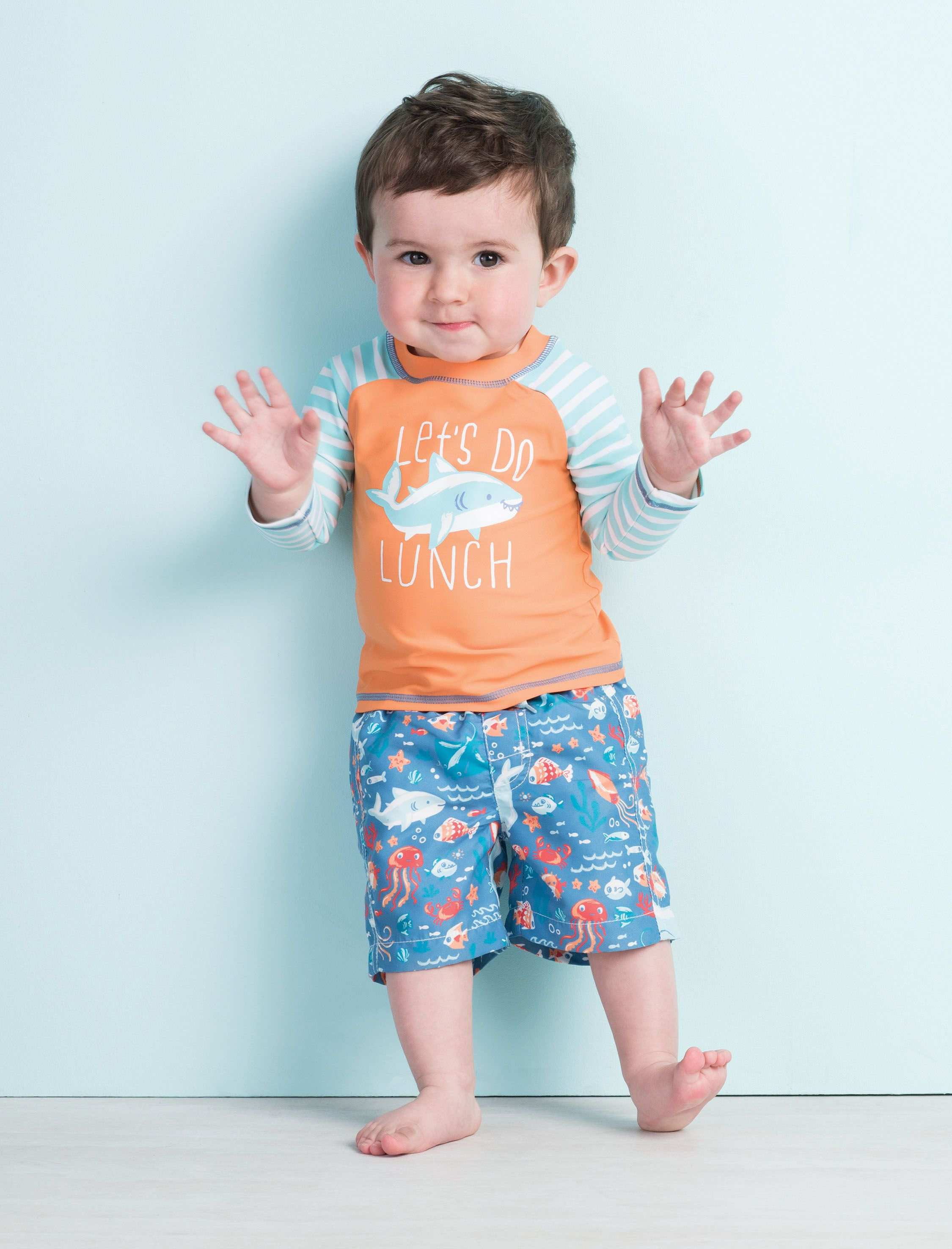 707511ed9b8d6 Ocean Animals Baby Rashguard Set by Hatley | cute clothes | Baby ...