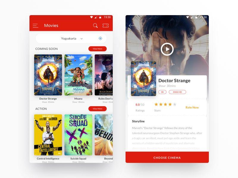 Evoucher Movie Ticketing Section Movies Doctor Strange Marvel Movie App