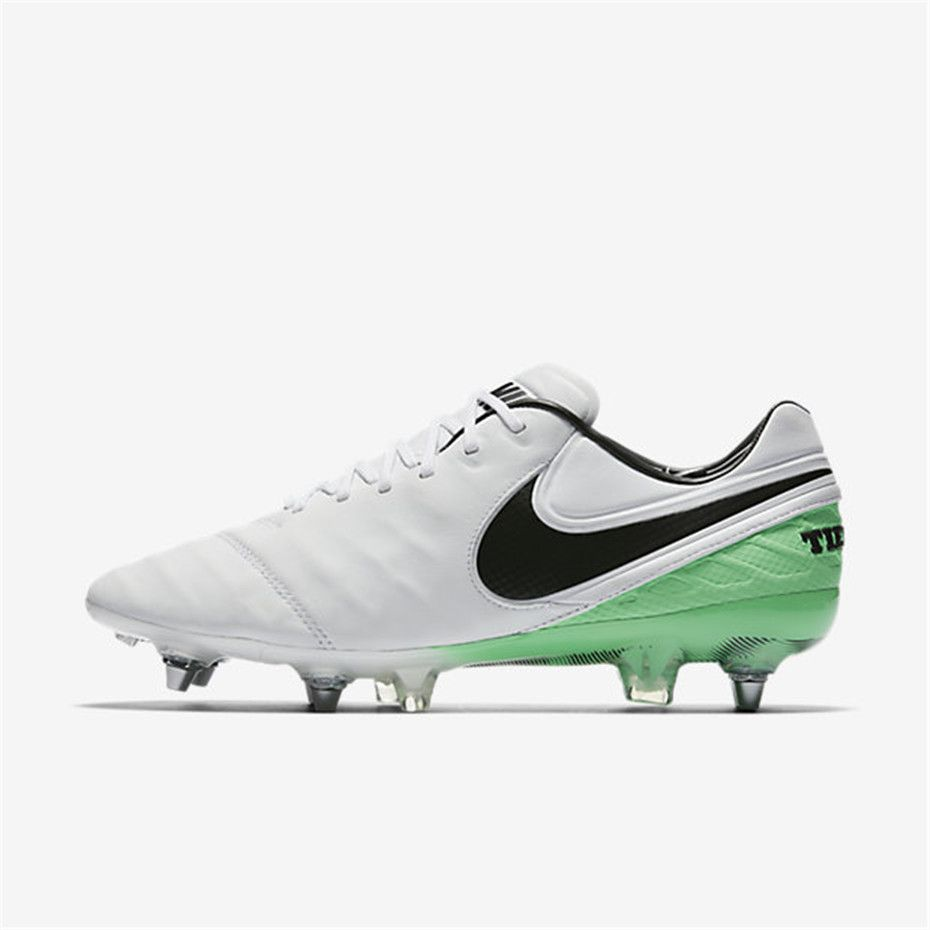 Nike Tiempo Legend Vi Sg Pro White Electro Green Black Soccer Cleats Nike Soccer Cleats Sport Shoes