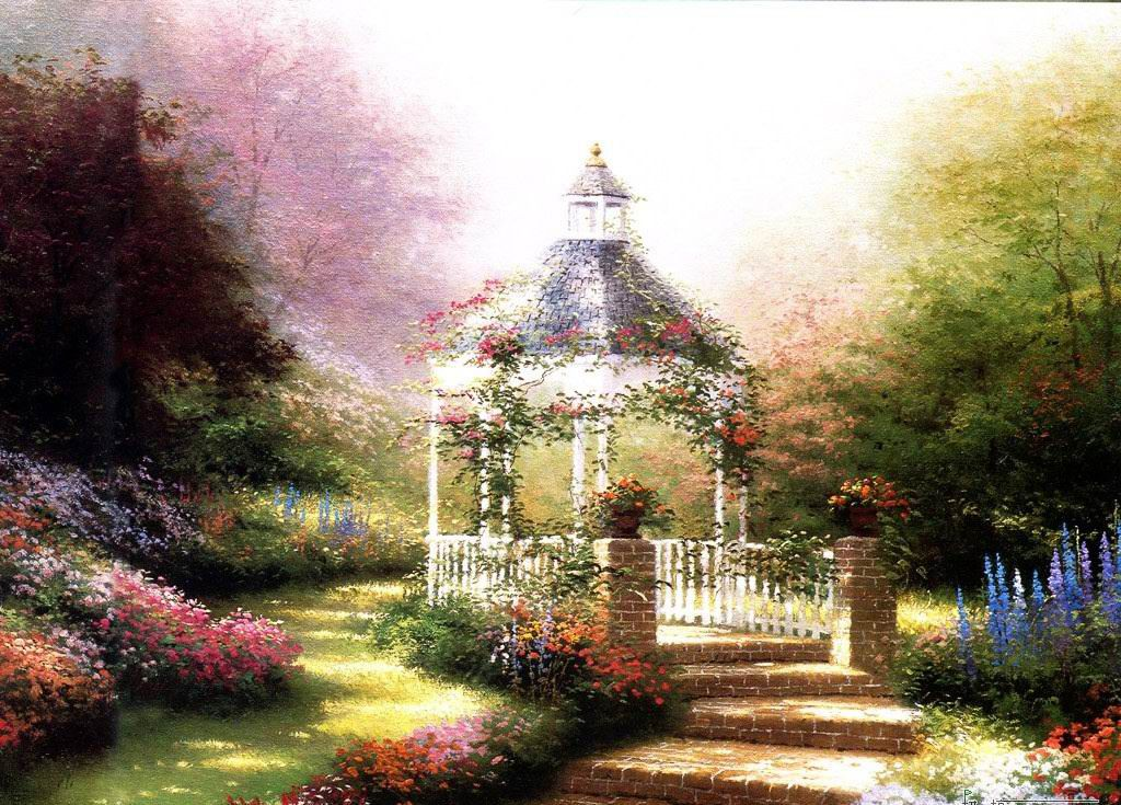 Top 25 ideas about GARDEN PAINTINGS on Pinterest Gardens Photo