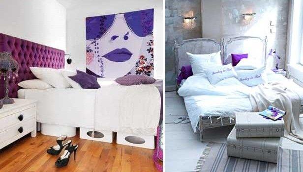 Oggetti Fai Da Te Camera Da Letto : Arredare la camera da letto con il viola idee idee