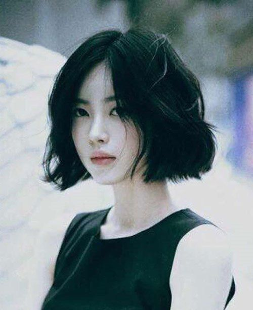 Asian Short Cute Bob Hairstyle