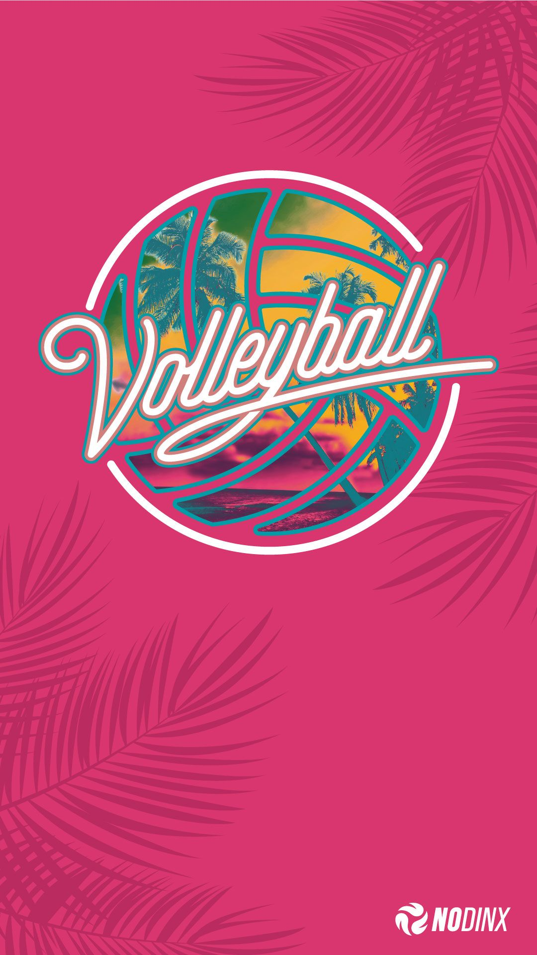 Tropical Puff Volleyball Backgrounds Volleyball Wallpaper Cute Backgrounds