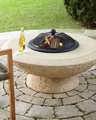 Photo of Stonecast Fire Pit  at Horchow. #metal fire pits makeover Stonecast Fire Pit #Fe…
