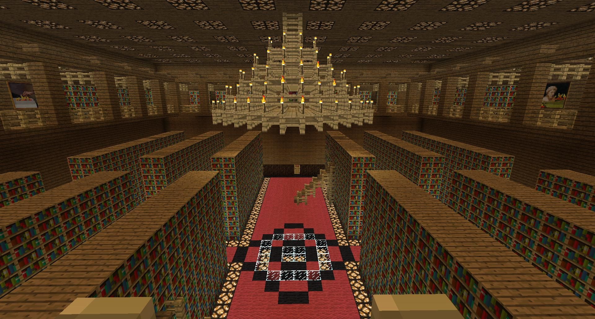 Minecraft Library, How To Make A Simple Chandelier In Minecraft Pe