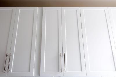 Adding Trim To Cabinet Doors With Images Laminate Cabinets