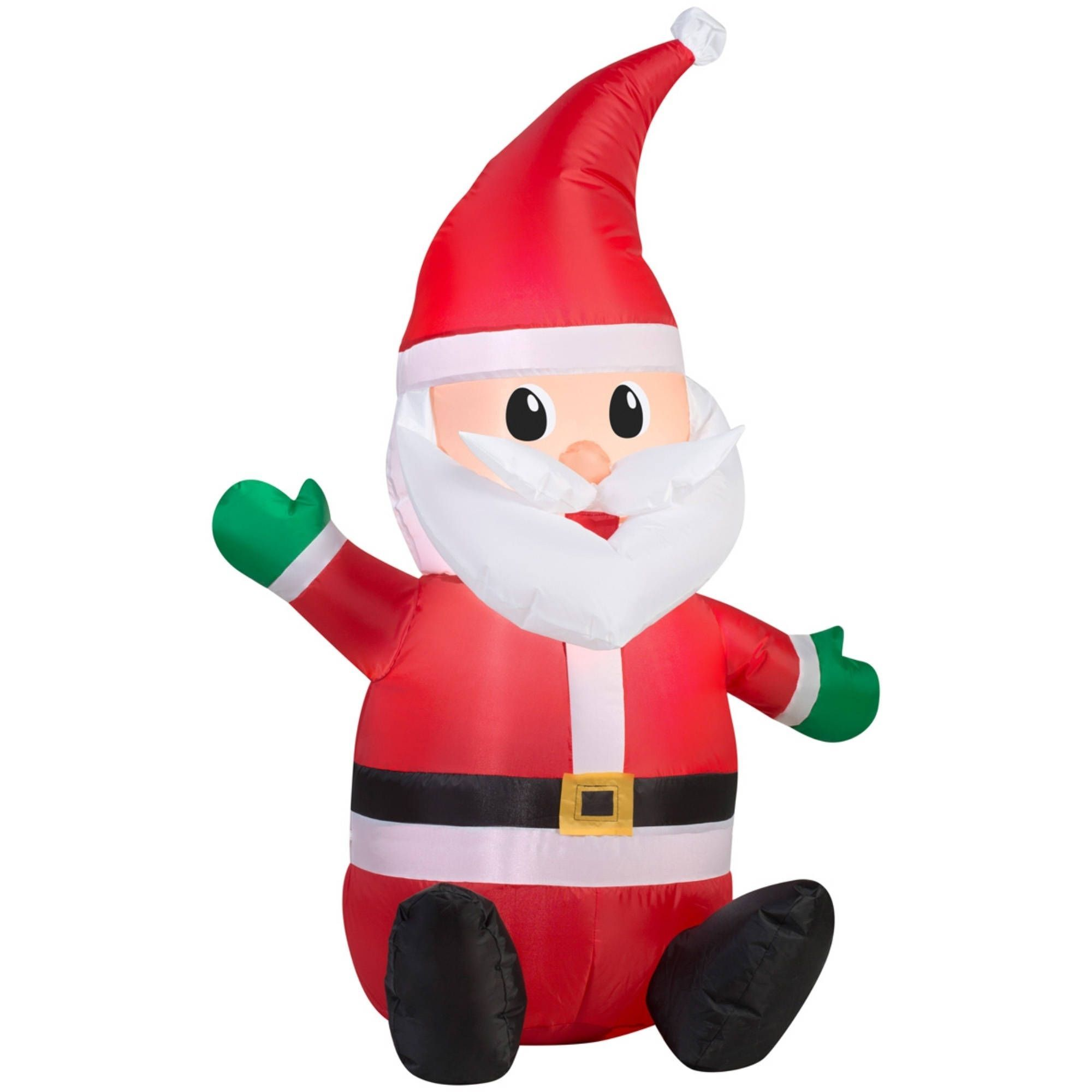 Gemmy Christmas Airblown Inflatable Seated Santa with Hat | Products ...