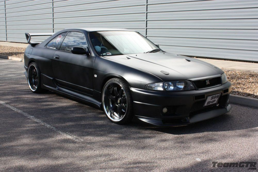black nissan gt skyline r33 gtr vspec - Google Search