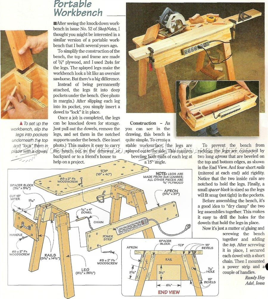 Super 977 Portable Workbench Plans Workshop Solutions Cars And Pdpeps Interior Chair Design Pdpepsorg