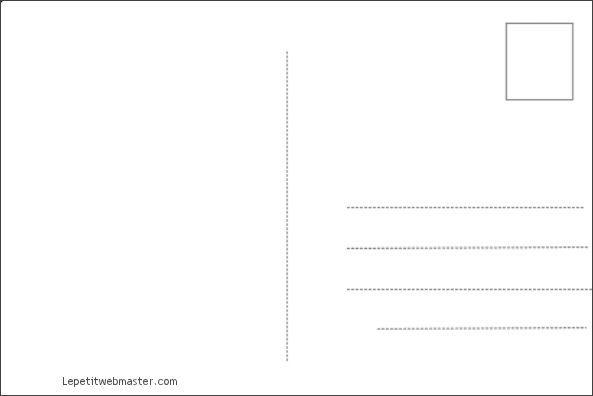 Cartes Postales A Imprimer Dos De La Carte Carte Postale Carte