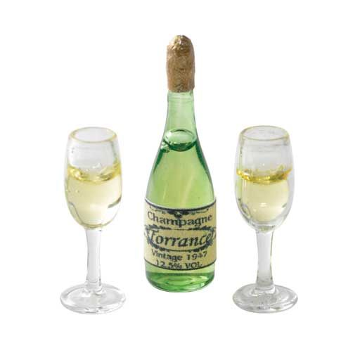 """3-Pc. Champagne Set! For my """"Fairy Garden"""""""