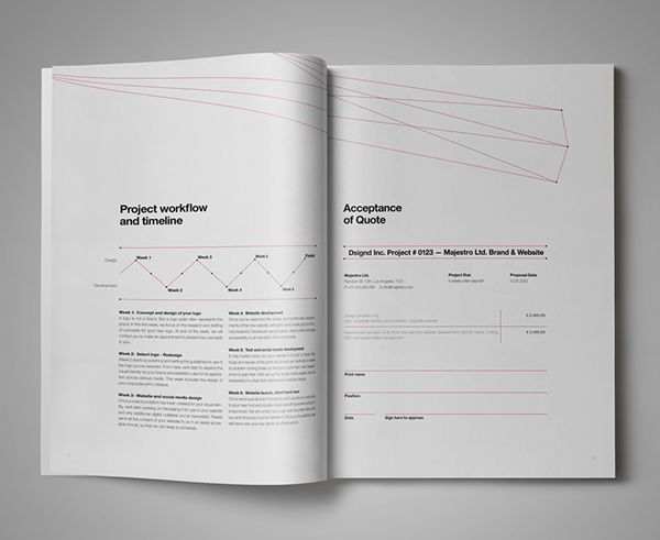 Dsignd Proposal Swiss Design With Invoice On Behance  Editorial