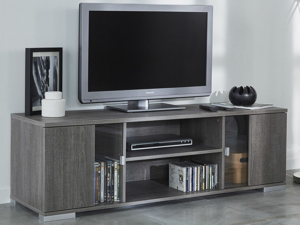 Meuble Tv En Bois 2 Portes Et 1 Etagere Vitree Namur Mobilier De Salon Meuble Meuble Tv