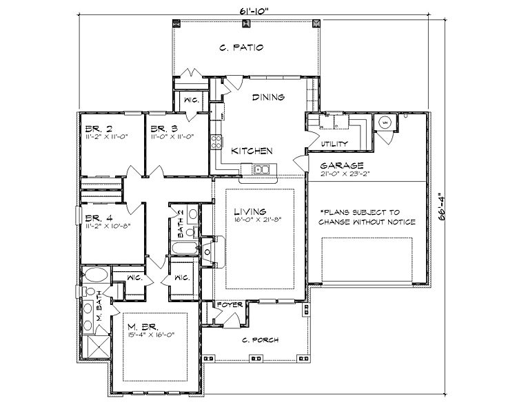 Plan HHF-4223 Floor Plan