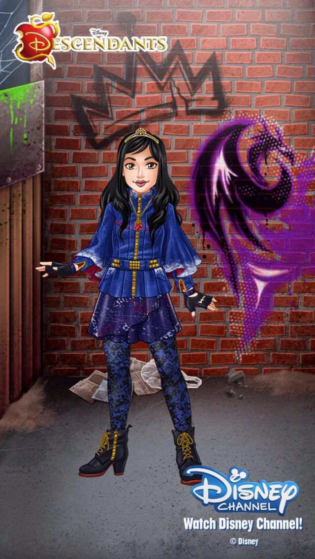 I created my version of Evie on the Disney Channel App