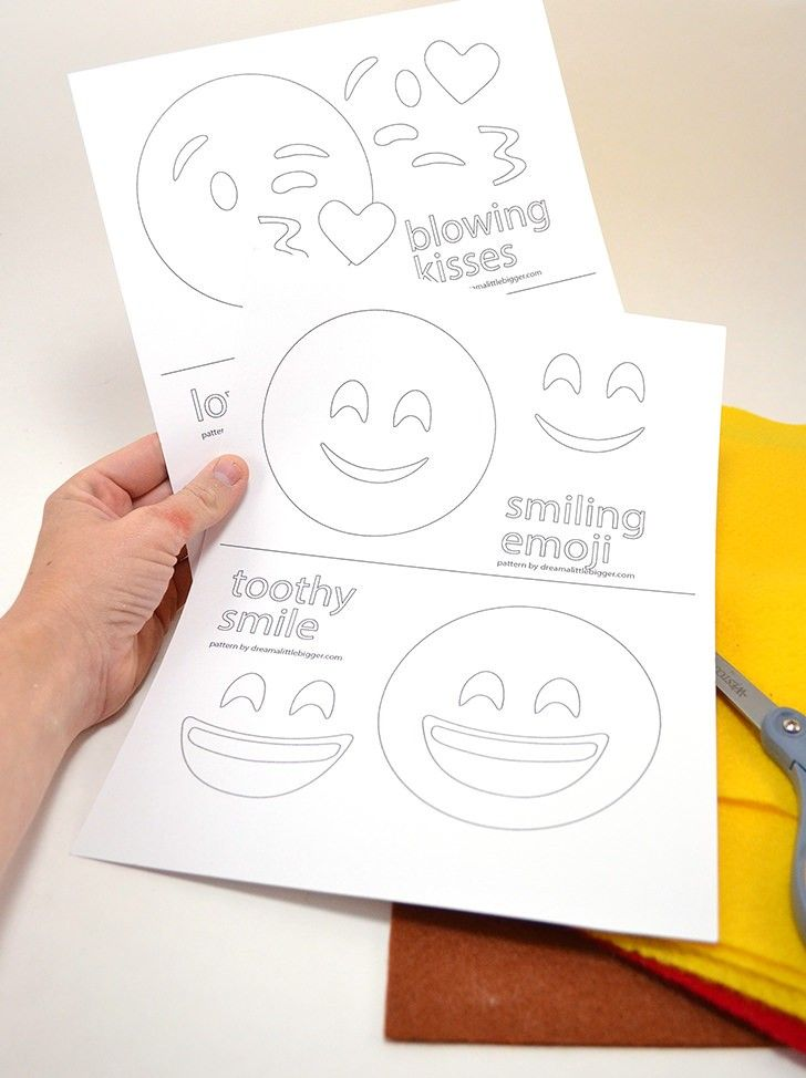 Felt Emoji Cat Toys Emoji Patterns Emoji Templates Emoji