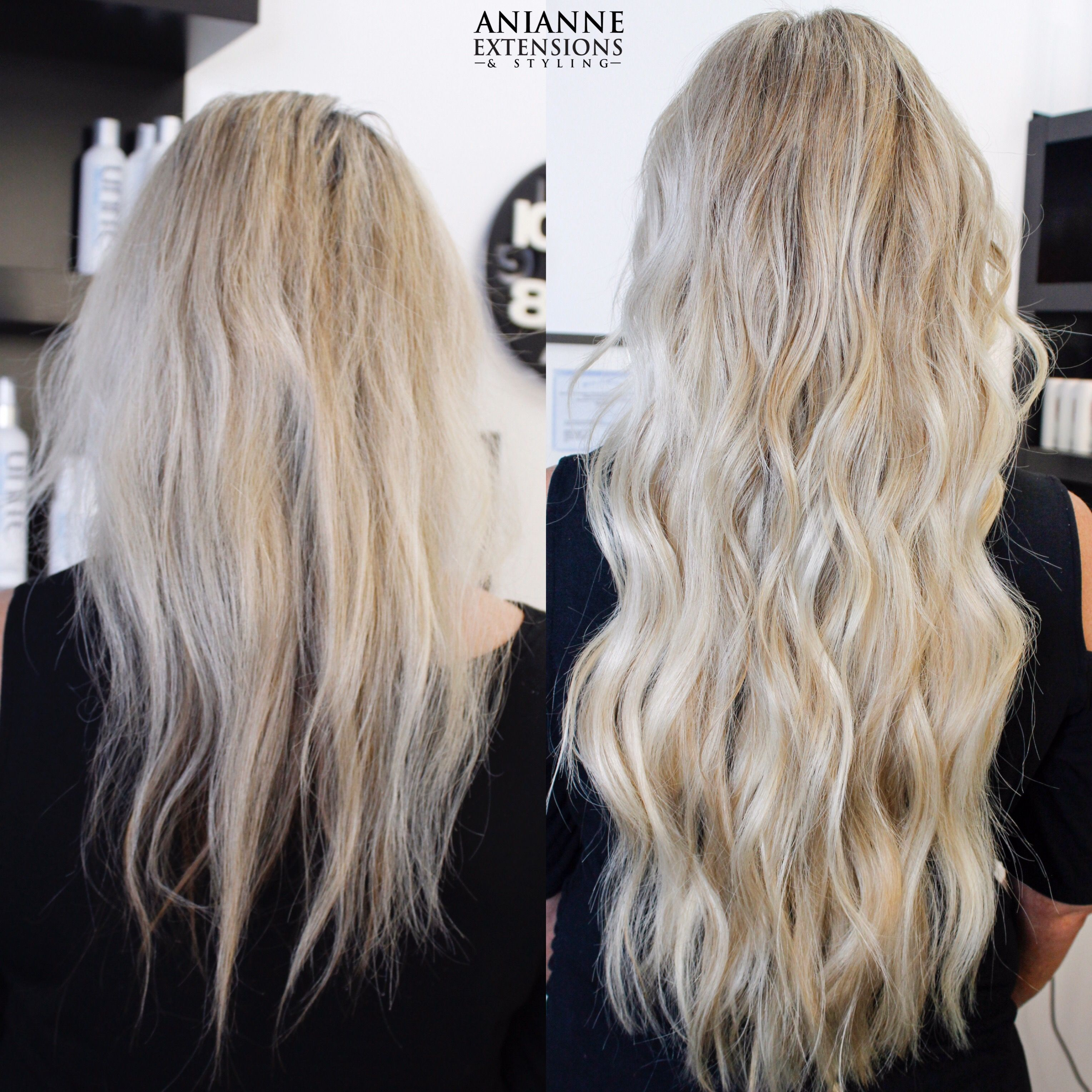Blonde Babylights Natural Beaded Rows Nbr Extensions Anianne