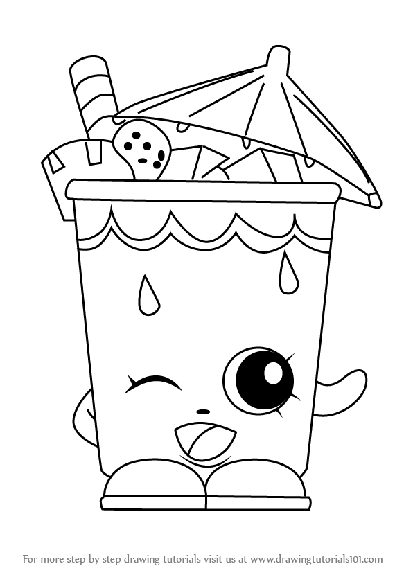 Learn How To Draw Little Sipper From Shopkins Shopkins Step By Step Drawing Tutorials Shopkin Coloring Pages Shopkins Colouring Pages Shopkins Drawings