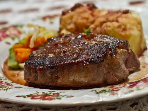 August 13 is Filet mignon Day: Filet Mignon With Port and Mustard Sauce Recipe