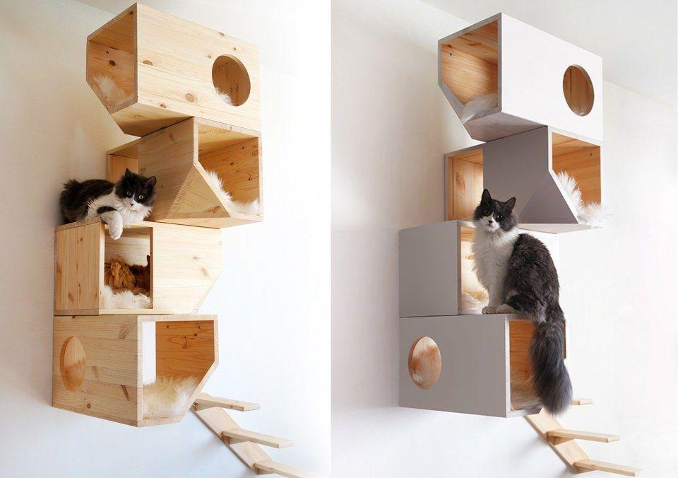 The Cat Tree by Carissa is a geometric tree house for feline friends http://ift.tt/2qP9jIJ