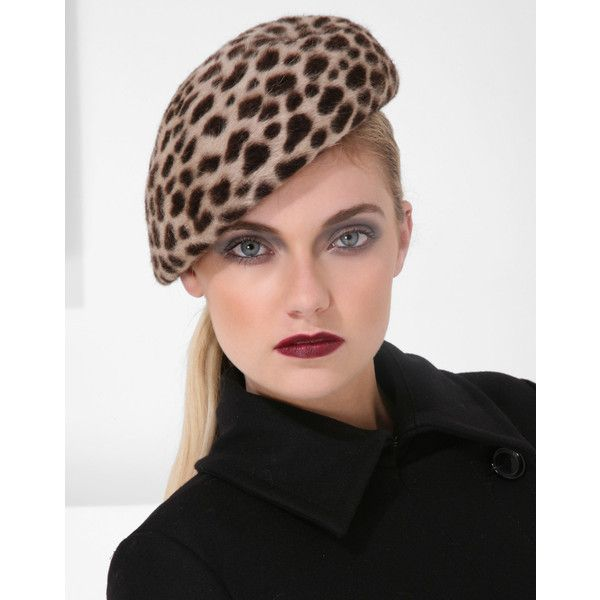 Philip Treacy Leopard Beret (€195) found on Polyvore
