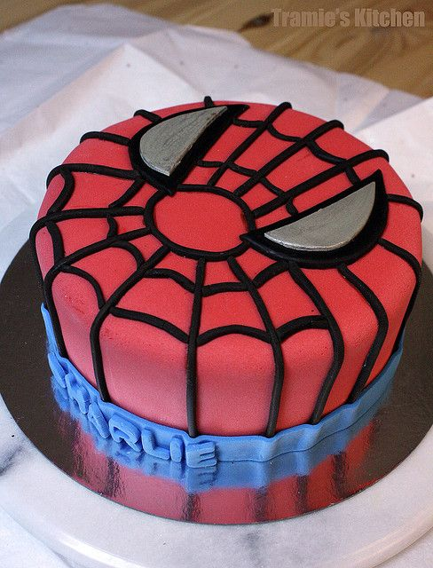 Spiderman Cake possible bday cake for boys Cakes Pinterest