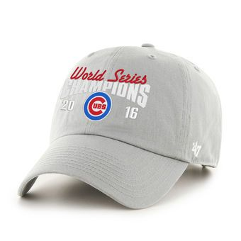 new products 5d0f1 fb6af 47 Chicago Cubs Gray 2016 World Series Champions Clean Up ...