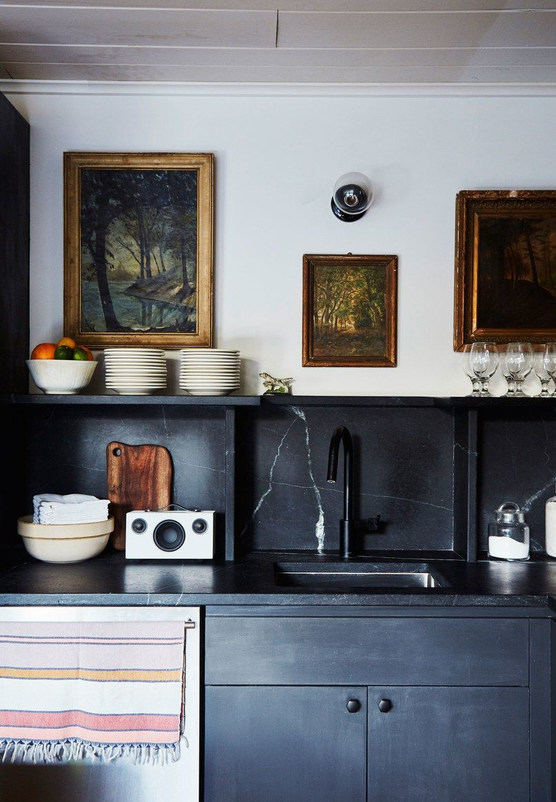 In this kitchen renovation the cabinetry used to be in an nyc