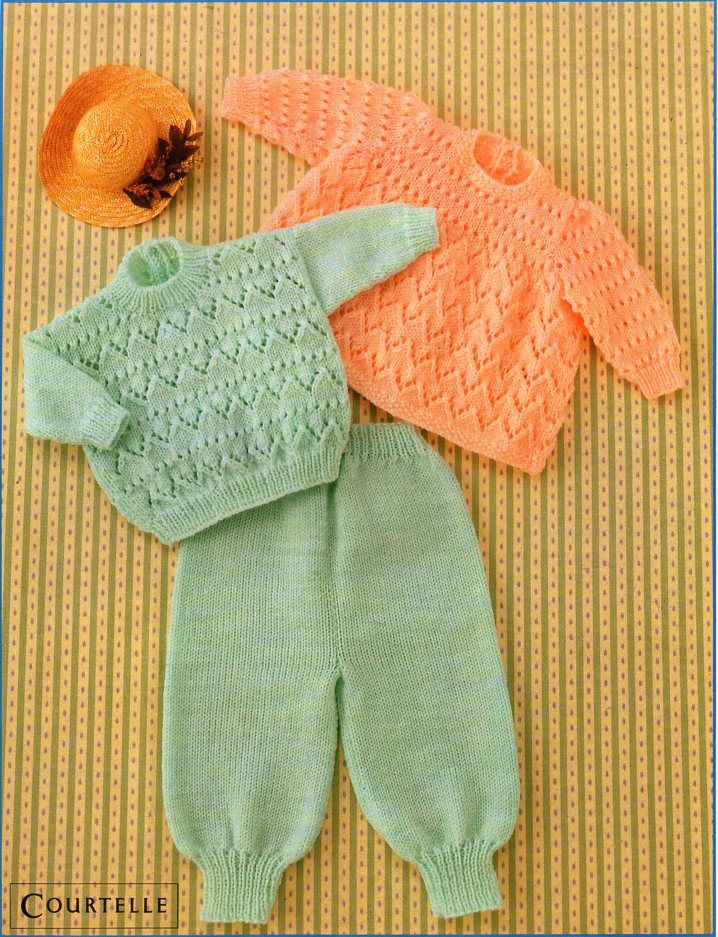 baby knitting pattern pdf baby angel top sweater trousers baby ...