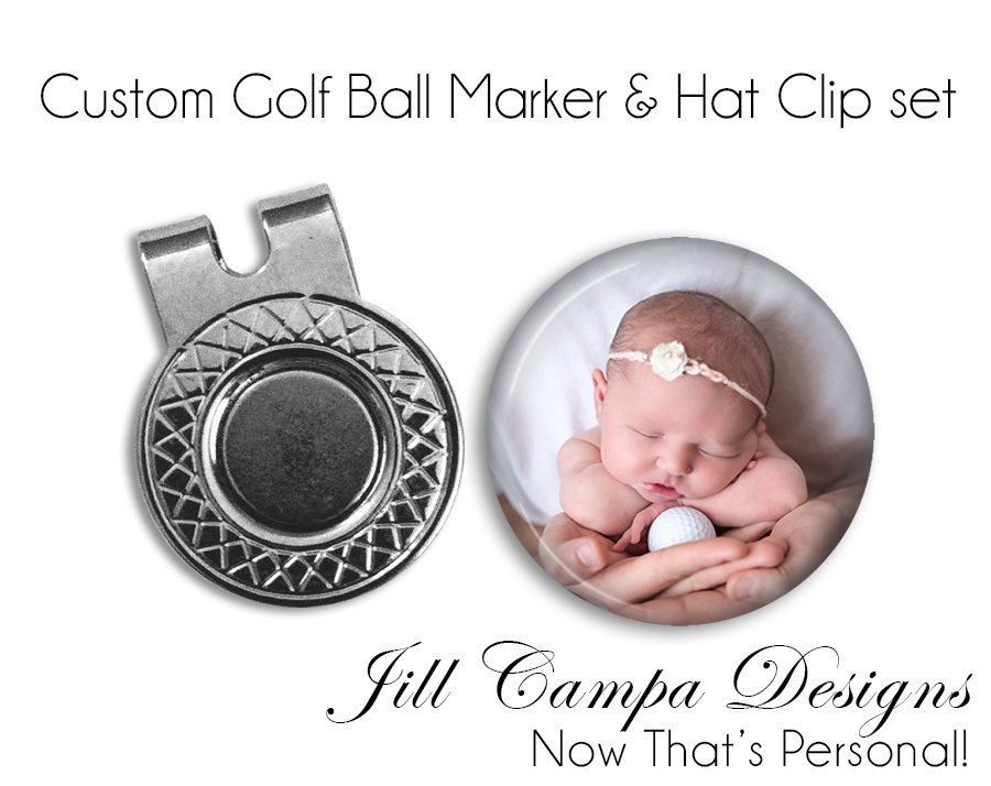Golf Ball Marker Golf Ball Marker And Hat Clip Set Custom Etsy Golf Ball Markers Ball Markers Gifts For Golfers