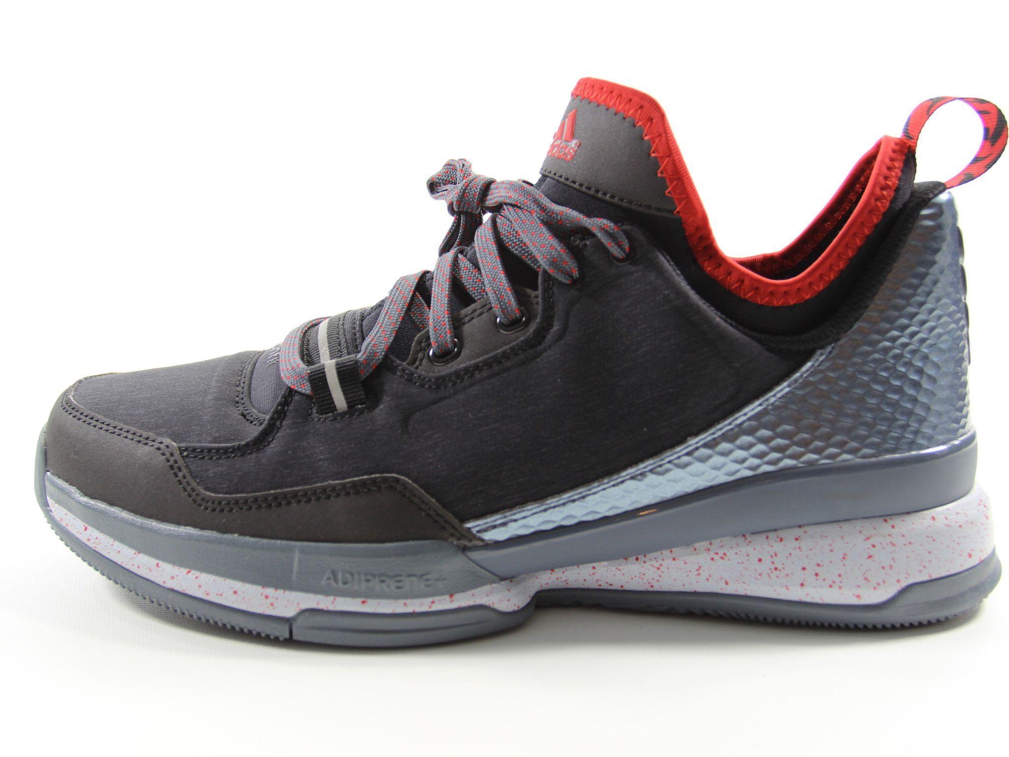 Adidas D Lillard 1 Damian Tech Fit Basketball Shoes Size 11.5 (Black/Red/ Silver)