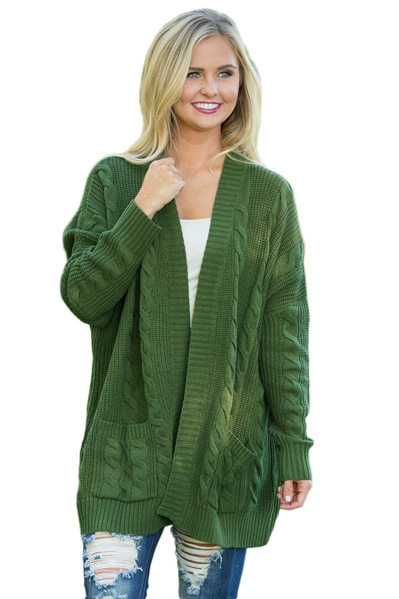 9486547baba Army Knit Texture Long Cardigan