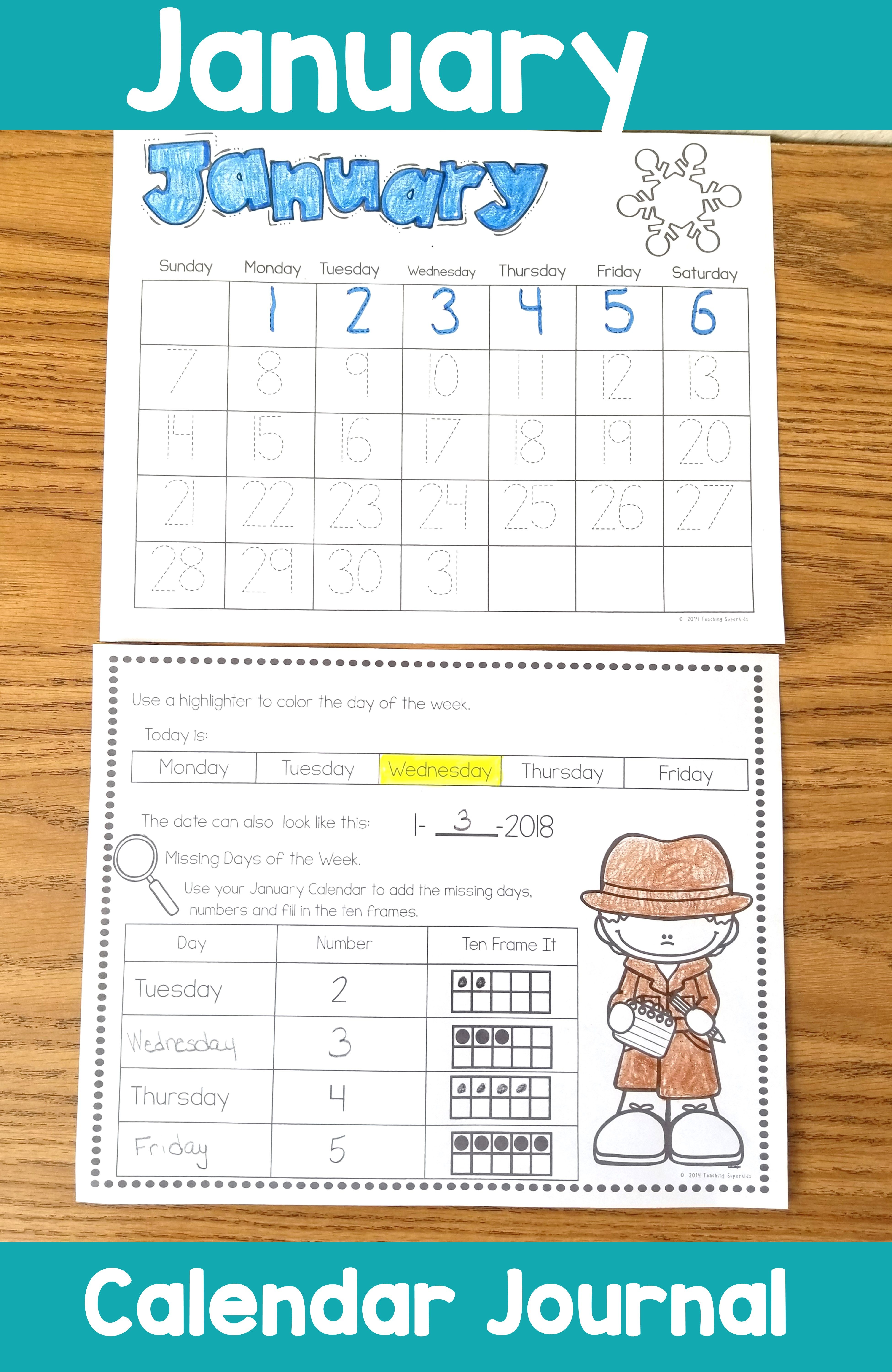 January Calendar Activities Perfect For Morning Math