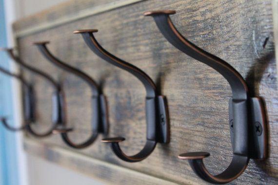 Unique Rustic Entryway Coat Rack Distressed by ABrusticdesigns