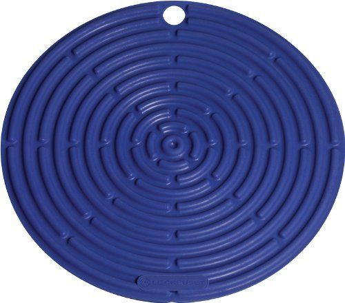 LE CREUSET Silicone 8-Inch Round Cool Tool Cobalt $12.95 TOTAL! TOP BRANDS * LOWEST PRICES * FREE WORLD SHIPPING * CULINART WEBSITE: www.shopculinart.com