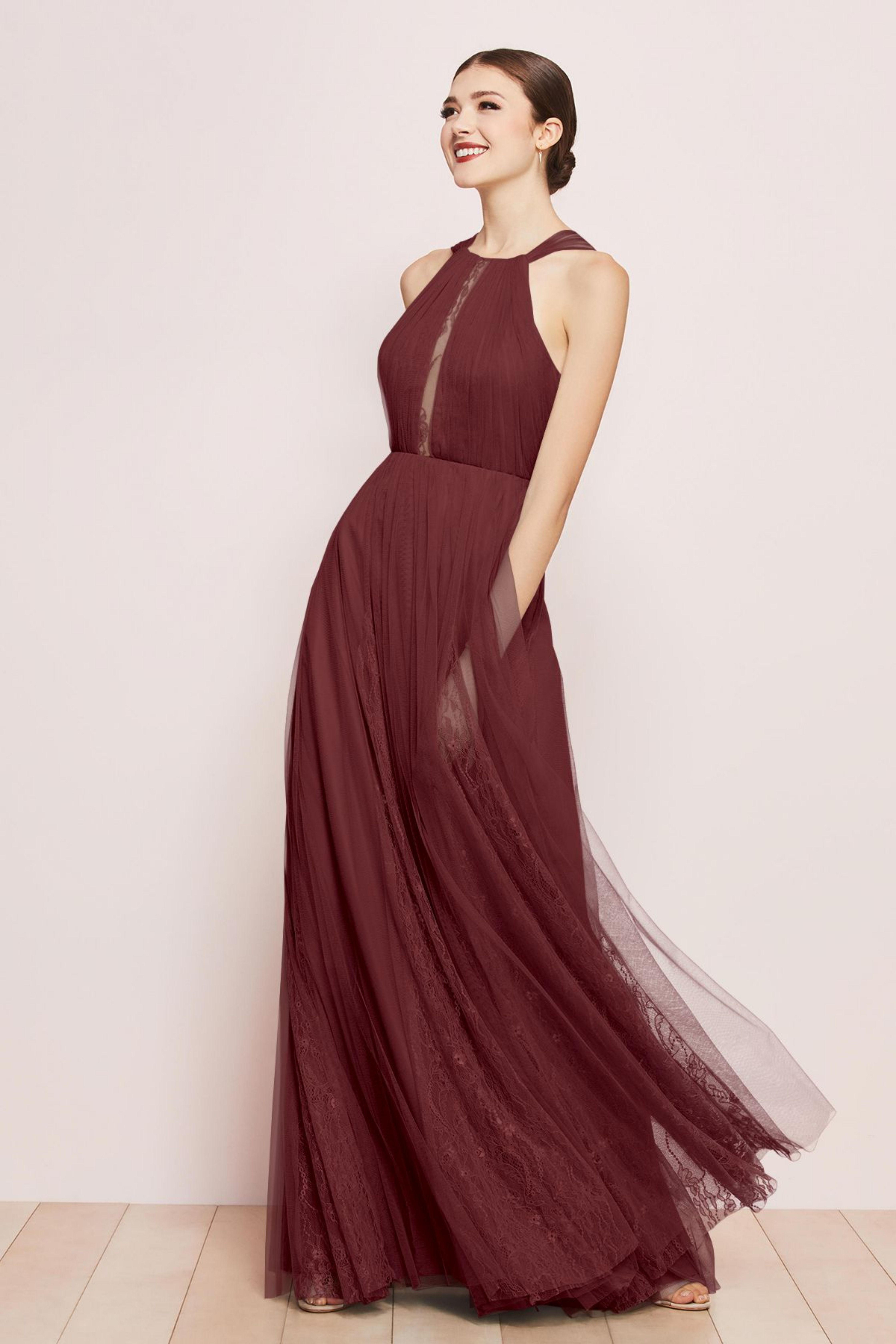 Watters Bridesmaid Dress Dark Wine Red Gianna Watters Bridesmaid Dresses Watters Bridesmaid Dresses